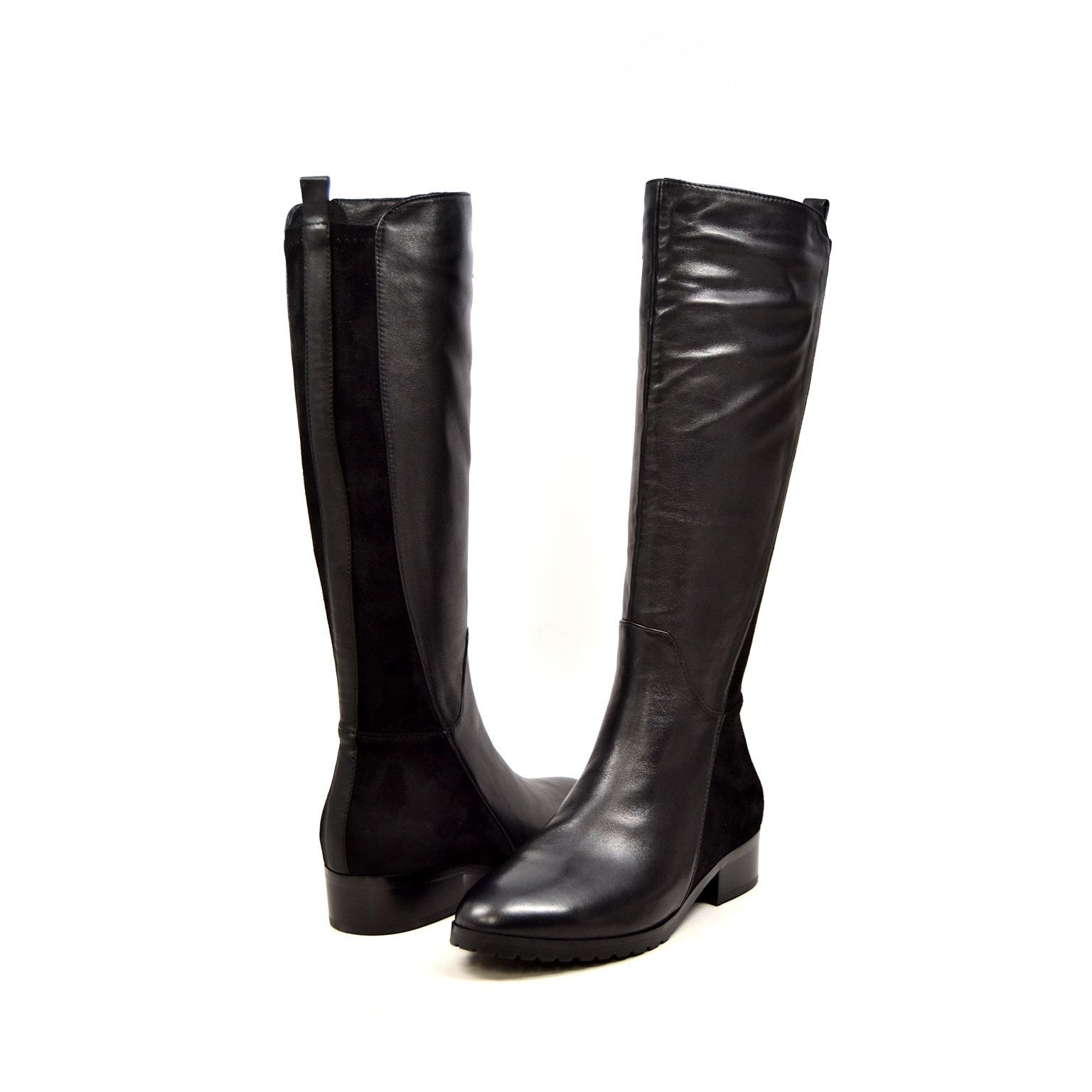 SoleMani Women's Trendy Black Leather